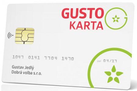 Akceptujeme platbu GUSTO kartou